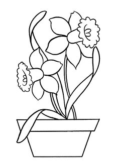 Print Coloring Image Flower PagesKids
