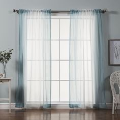 Manchester Solid Sheer Rod Pocket Curtain Panels