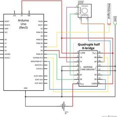 stepper motor wiring diagram tech search color diy 360 degree sodar device