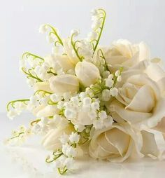 Bouquet with white roses ♡
