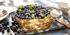 Rezept: Heidelbeer-Pfannkuchentorte