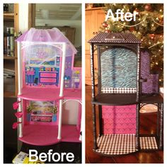 DIY Monster High Dollhouse Took An Old Barbie House And Turned It