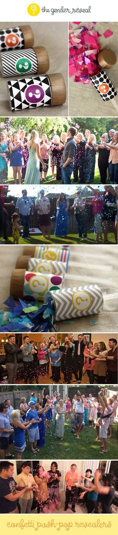 Confetti Push-Pop Revealers #genderreveal