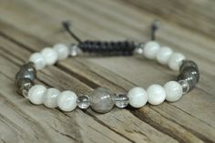 Labradorite and Moonstone Healing Bracelet by pineSHANTY on Etsy, $17.00