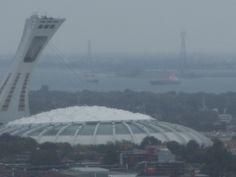 stade olympique vu du mont royal montréal