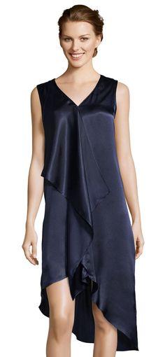 3e545249 Adrianna Papell | Hammered Satin Asymmetrical Dress with Corkscrew Ruffle  Asymmetrical Dress, Strappy Heels,