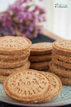 Galletas digestive de avena Coconut Cookies, Yummy Cookies, Cupcake Cookies, Galletas Cookies, Cupcakes, Digestive Cookies, Cookies Light, Healthy Biscuits, Cookie Recipes