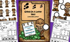 """""""Going On A Letter Hunt"""": Scavenger Hunts for Any Text, Lowercase Letters.  Differentiated extension worksheets. Preschool, kindergarten, RtI, Special Education, homeschool.  $"""