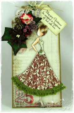 Dies to Die For: Prima Doll Christmas Tag by rachael