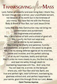 Thanksgiving after Mass {Pray} - I have long loved this prayer!: