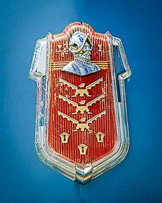 1952 Desoto Emblem - Car Images by Jill Reger Car Badges, Car Logos, Auto Logos, Logo Autos, Dodge, Desoto Cars, Detroit Motors, Car Radiator, Car Hood Ornaments