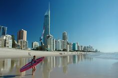 Surfers Paradise Beach, Queensland, Australia