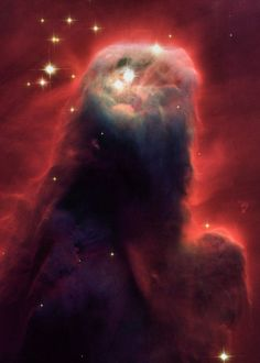 The Cone Nebula Hubble Space Telescope image- I think this looks like the back of an angel.