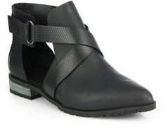 Tibi Gail Leather Ankle Boots