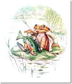 Beatrix Potter II - Beatrix Potter - The Tale of Mr. Jeremy Fisher - 1906 - Fish Is On Boat with Jeremy Painting