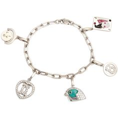 Pre-owned Cartier Diamond Charm Bracelet ($22,000) ❤ liked on Polyvore featuring jewelry, bracelets, charm bracelets, pre owned jewelry, preowned jewelry, charm bracelet, diamond jewelry and diamond charm bracelet