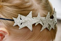 CLOUD NINE sparkle star skinny metal headband crown by Livcouture Baby Crown Headband, Felt Headband, Baby Headbands, Metal Headbands, Felt Hair Accessories, Handmade Hair Accessories, Diy Crown, Crown Kids, Star Diy