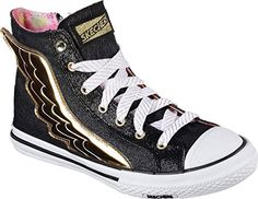 Skechers Womens OG 70 Utopia Wing It High Top SneakerBlackGoldUS 11 M ** Read more reviews of the product by visiting the link on the image.(This is an Amazon affiliate link and I receive a commission for the sales)