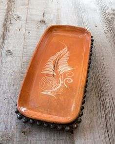 Jan Barboglio Wrought Iron Ballin Rectangular Footed Tray | #rustic, #homedecor, #tabletop | thepicketfence.com