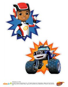 blaze and the monster machine personagens png Festa Monster Truck, Monster Trucks, Monster Truck Birthday, Blaze And The Monster Machines Party, Blaze The Monster Machine, Third Birthday, 4th Birthday Parties, Boy Birthday, Bolo Blaze