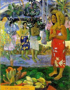 Paul Gauguin, We Hail Thee Mary, 1891, Metropolitan Museum of Art, New York