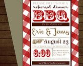 Printable BBQ Rehearsal Dinner Invitation-Print Yourself-Digital File