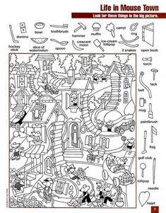 Kids Math Worksheets, Classroom Activities, Fun Activities, Hidden Object Puzzles, Hidden Picture Puzzles, Colouring Pages, Coloring Books, Hidden Pictures Printables, Highlights Hidden Pictures
