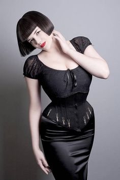 Custom underbust corset cincher with flossing // cotton coutil