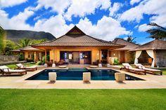 Honu Kai Maui, a romantic villa in Lahaina, Maui. Hawaii Vacation Rentals, Vacation Villas, Tropical Vacations, Dream Vacations, Tahiti, Santorini, Maldives, Mansions For Rent, Balinese Villa