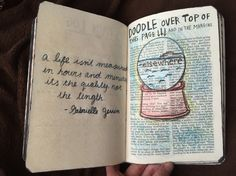 Doodle over the top of the page. Wreck this journal. Elsewhere.