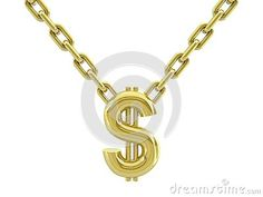 Dollar sign with chain