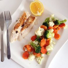 Easy, healthy, high-protein & delicious Perfect dinner for tonight! Pangasius filet & mixed veggie
