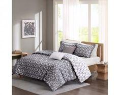 chicmarket.com - Madison Park Pure Alexa 5Pc Cotton Duvet Cover Set - King - Grey