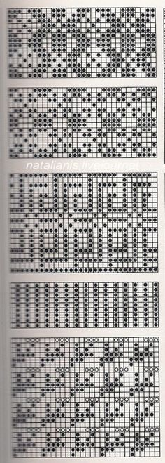 @nika Intarsia Patterns, Fair Isle Knitting Patterns, Knitting Charts, Lace Knitting, Knitting Designs, Knitting Stitches, Cross Stitch Patterns, Motif Fair Isle, Fair Isle Chart