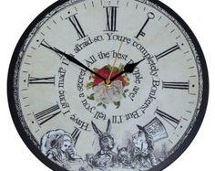 Alice nel paese delle meraviglie orologio da parete