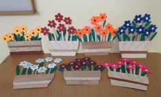 Spring Projects, Spring Crafts, Projects To Try, Paper Flowers Craft, Flower Crafts, Paper Crafts, Poppy Craft For Kids, Art For Kids, School Decorations