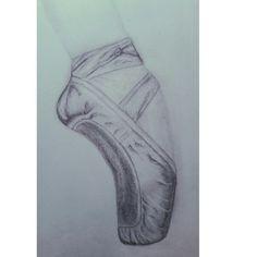 Ballet shoe sketch