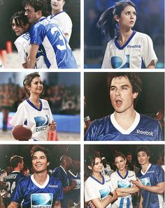 He looks as hot in a jersey as he does in his signature black v-neck shirt as Damon. How can he look good in literally everything??