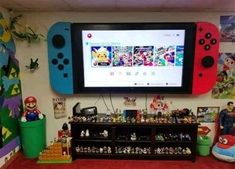 This is the flatscreen television… Awesome Nintendo Switch TV Wall Mount. This is the flatscreen television…,Upcycling Awesome Nintendo Switch TV Wall Mount.