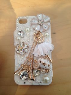 My lovely Eiffel Tower bling phone case