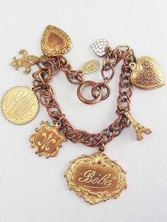 Designer Signed Vintage CATHERINE POPESCO Paris France Charm Bracelet ~LOVE~ #CATHERINEPOPESCO