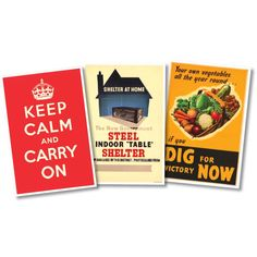 Pack of 3 1940's Reproduction Posters | Peeks
