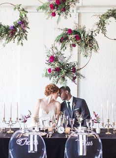 Black & Gold New Year's Eve Wedding Inspiration - Inspired By This More