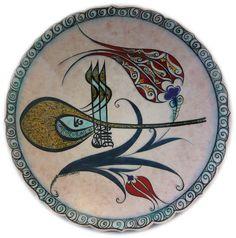 Tile & Ceramics: Çini ve Seramik (Tile & Ceramic) Art Deco, Art Nouveau Design, Turkey Art, Glazed Tiles, Islamic Art Calligraphy, Stencil Designs, Tile Art, Pottery Art, Diy And Crafts