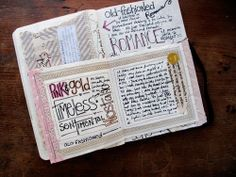 Beautiful mixed media journals on her blog