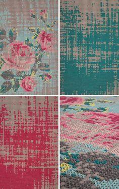 Charlotte Lancelot's stitched furnishings from Bliss--via moredesignplease.com blog