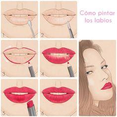 Cómo lograr unos labios perfectos e irresistibles en tan sólo 8 pasos. #ComoPintarLabios #TipsDeMaquillaje #TipsDeBelleza #PasoaPaso