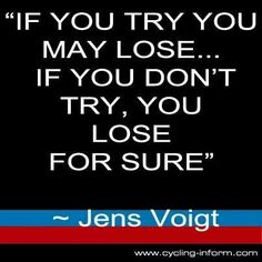 Truth - Jens Voigt - #cycling