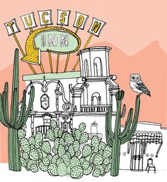 A cool city guide of our neighbors down south, Tucson.  Love the illustration.