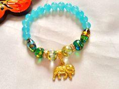 SALE-----GYPSY ELEPHANT bracelet - boho bracelet -ethnic bracelet -spring 2015 collection- gypsy jewelry by Nezihe1 on Etsy